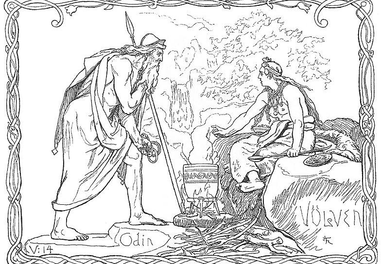 Odin consulta a volva