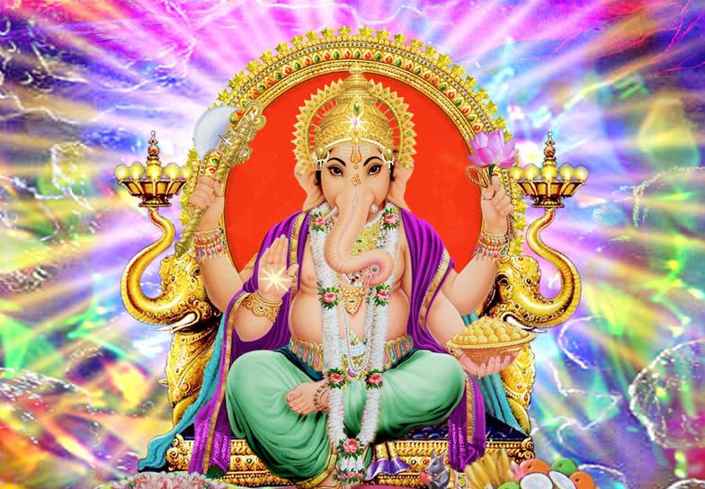 Ganesha sentado de frente