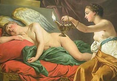 Pintura de Eros e Psique