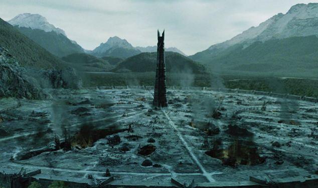 Região ao redor de Orthanc, destruida
