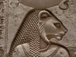 Imagem em relevo de Sekhmet