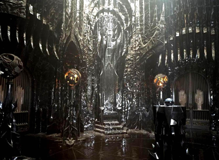 Imagem de um trono dentro de Orthanc