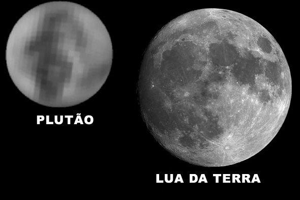 Plutão e Lua