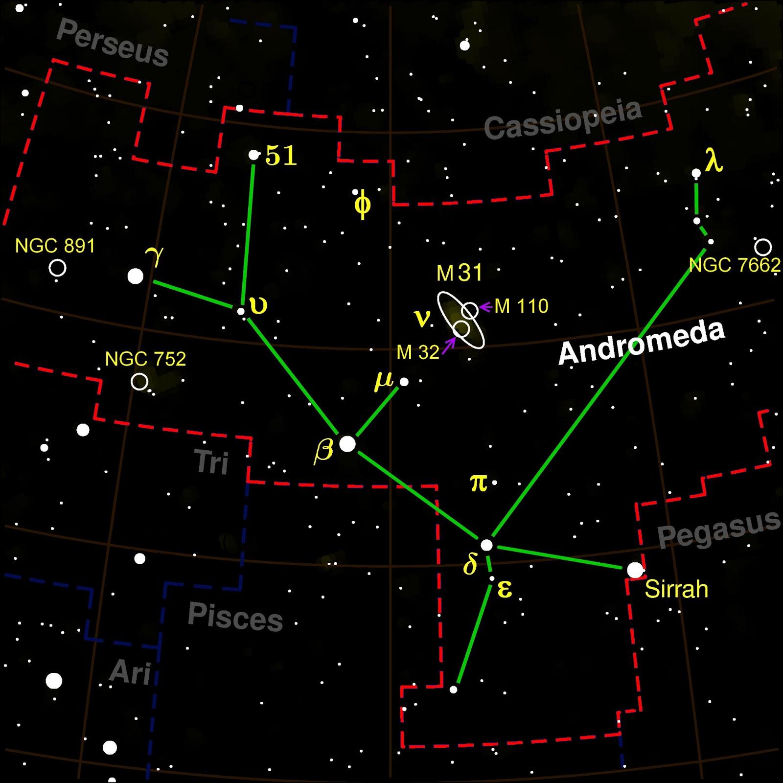 Andromina Significado sobre o céu -- constelações: andrômeda | mitografias