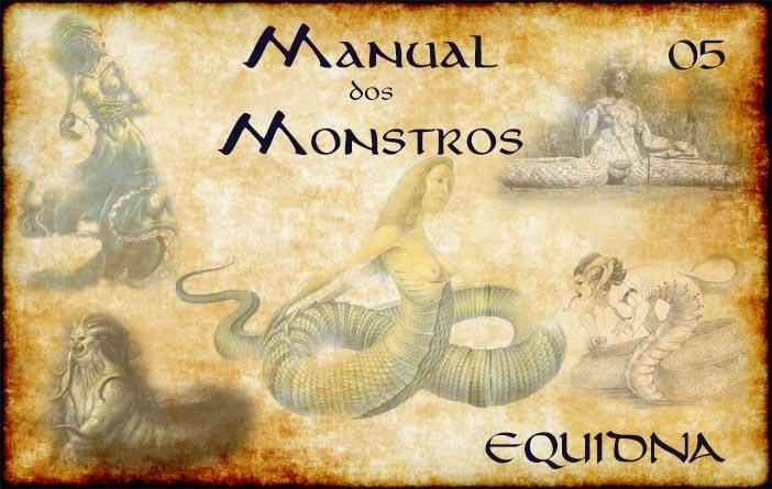 Capa de Manual dos Monstros 05 - Equidna